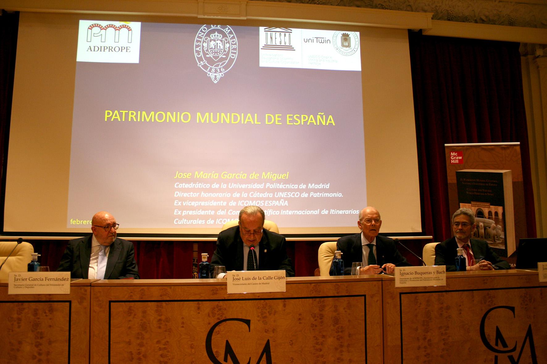 Ignacio Buqueras, Presidente de ADIPROPE inaugura el FORO PATRIMONIO MUNDIAL  DE ESPAÑA 1